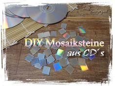 Foto: [Anleitung] irisierende Mosaiksteine aus alten CDs herstellen. Veröffentlicht von MissZuckerguss auf Spaaz.de