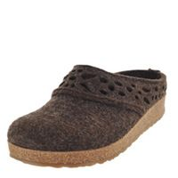 Haflinger Lacey Wool Clog Chocolate