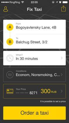 01 fixtaxi iphone 5 app main screen