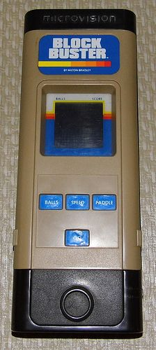 Vintage Microvision Cartridge Based Electronic Handheld Game By Milton Bradley Electronics, Model 4952, Made In USA, Copyright 1979.