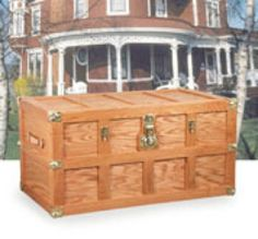 Steamer Trunk Woodworking Plan