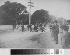 Bicycle Racing, Fourth of July, San Mateo (Calif.) Peterson, Harry Bicycle race on July 4th(year unknown) on El Camino Real near the John Parrott residence. In 1935, Mr. Harry Peterson, then Director of the Sutter's Fort Museum stated that he was one of the contestants in the race.
