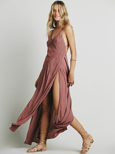 Summer Rain Dress | Effortless crinkly crepe maxi, made from our sheer and gauzy Endless Summer fabric, cut on the bias with a diamond-patterned grid of pintuck pleating. High dramatic slits and adjustable grosgrain straps. *Endless Summer *Gauzy, sheer silhouettes for effortless layering under the sun. Whether you live the beach lifestyle year-round or dream of making the great escape, explore the Endless Summer collection of: dreamy maxi dresses, tunics, rompers, and more.