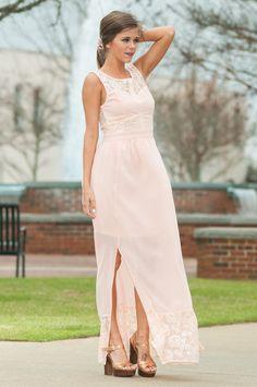 """Courage To Love Maxi Dress, Blush"" $56.00"