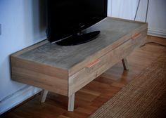Concrete | oak media cabinet | NH oslo Media Cabinet, Oslo, Concrete, Furniture, Home, Ad Home, Home Furnishings, Homes, Haus