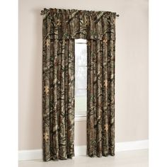 Mossy Oak Break-Up Infinity Window Curtain Panels, Set of 2 or Valance
