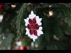 Easy and Beautiful Paper Quilling Ornament DIY - YouTube