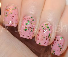 Liquid Lacquer Flowers In The Attic over OPI I Think In Pink