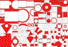 Free Printable Kit for Weddings in Red Polka Dots.