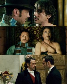 Jude Law Robert Downey, Jr. in Sherlock Holmes: A Game Of Shadows (2011) by Guy Ritchie.