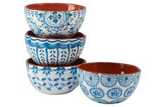 One Size Certified International 23600SET4 6 Country Weekend Canape Plate Set of 4 Multicolor