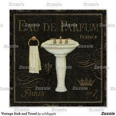 Tangletown Fine Art 'Bain de Luxe III' by Daphne Brissonnet Graphic Art on Wrapped Canvas Canvas Artwork, Abstract Canvas, Framed Artwork, Canvas Prints, Big Canvas, Canvas Size, Painting Prints, Fine Art Prints, Vintage Sink