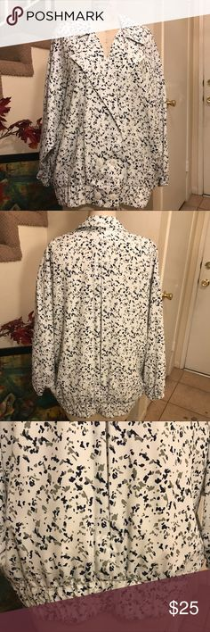 SONATA Blazer Light Jacket Blouse Plus Size 14 SONATA Blazer Light Jacket Blouse SZ 14 beautiful soft print Fully Lined with a light fabric really light and comfortable SONATA Tops Blouses