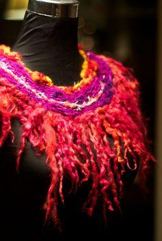 WoolWench Handwoven Neckwear - Suri Locks 'Blaze'