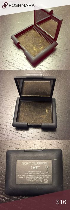 NARS eye shadow Used this twice. It's a deep green with gold shimmer. SUPER pigmented, this will last you forever. Can be used wet or dry. Check my other listings for a bundle! NARS Makeup Eyeshadow