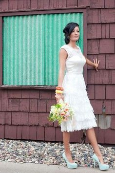 The perfect outdoor wedding dress, just add BOOTS!