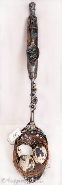 Vintage Handmade: Altered Spoon - Trash To Treasure