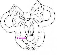 Minnie mouse Applique Designs, Quilting Designs, Christmas Ornament Coloring Page, Disney Quilt, String Art Templates, Embroidery Cards, Rhinestone Art, Camping Crafts, Card Patterns