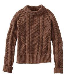 Women's Signature Cotton Fisherman Sweater at L.