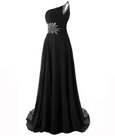 MYPROM Women's One Shoulder Beadings Chiffon Bridesmaid Long Prom Dresses M Black MYPROM http://www.amazon.com/dp/B00VYJRUHM/ref=cm_sw_r_pi_dp_AA0Ywb00XGGBQ
