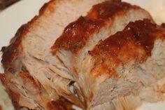 Crock pot BBQ pork tenderloin