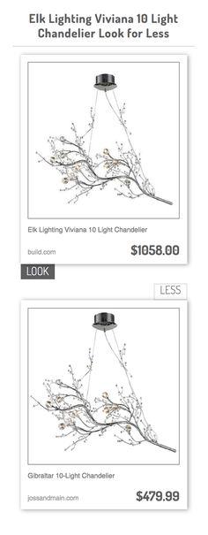 Elk Lighting Viviana 10 Light Chandelier vs Gibraltar 10-Light Chandelier