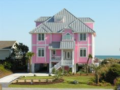 LOVE this beach house!!  Crystal Coast Rentals | Emerald Isle Rentals | Tickled Pink | (8 Bedroom Oceanfront House)
