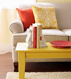 fun colors--especially the coffee table.