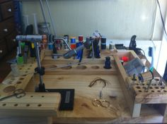 New tying bench courtesy of Nick Chambers and Cascadia Fly Shop.