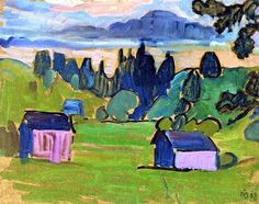 Gabrielle Münter - View of the Murnau Moor 1908