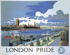 Mixed Media - Great Western Railway - London Pride - Retro Travel Poster - Vintage Poster by Studio Grafiikka , Yorkshire, Frank Mason, London Pride, National Railway Museum, London Poster, Railway Posters, Posters Uk, Retro Posters, The Blitz