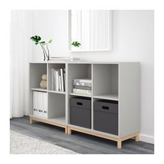 EKET Storage combination with legs, light gray light gray