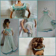 Blue barbie ball gown