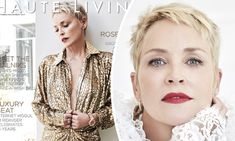 The Oscar nominee was a brand ambassador for the injectable filler Restylane last year Undercut Hairstyles Women, Undercut Styles, Undercut Women, Pixie Hairstyles, Cool Hairstyles, Haircut Styles, Pixie Haircuts, Sharon Stone Short Hair, Sharon Stone Hairstyles