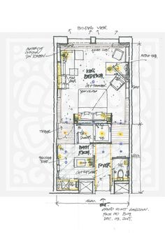Magnificient Apartment Layout Diagram That Inspiring You Plano Hotel, Floor Plan Sketch, Resort Plan, Apartment Layout, Dream Apartment, Hotel Floor Plan, Casa Loft, Hotel Room Design, Villa Plan