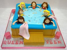 super Ideas for birthday cake for adults girly - Birthday Cake Easy Ideen Birthday Cakes For Teens, Good Birthday Presents, Birthday Cupcakes, Birthday Ideas, Birthday Nails, 8th Birthday, Swimming Cake, Pool Cake, Teen Cakes