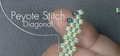 Bead editors show you how to do diagonal peyote stitch.