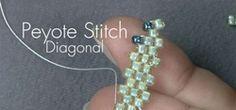 Bead editors show you how to do diagonal peyote stitch.