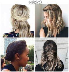 Trança em cabelo medio