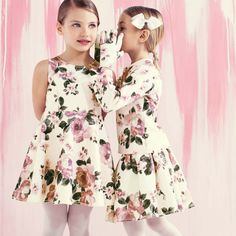 Monnalisa - Girls Flora Print Skirt   CHILDRENSALON