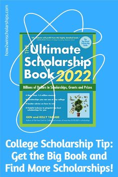 Having the right tools is a major part of the scholarship-winning process. One of the best and most detailed scholarship listing books is The Ultimate Scholarship Book by Gen and Kelly Tanabe. #college #scholarships #how2winscholarships #ScholarshipMom #education #collegecash #debtfree High School Writing Prompts, College Admission Essay, College Planning, Graduate Program, College Application, Scholarships For College, High School Students, Books, Education
