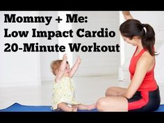 Mommy and Me Low Impact Cardio   20-Minute Postnatal Workout for Mom and Baby - YouTube