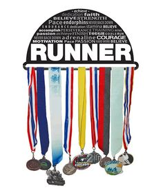 Take a look at this Black 'Runner' Inspiration Medal Hanger on zulily today!
