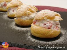I bignè fragole e panna sono l'idea perfetta se avete ospiti improvvisi. Si può preparare questo dolce anche con cubetti di ananas sciroppato.