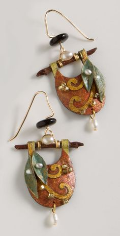 Paper Leaf Earrings, Earrings, Jewelry, Home - The Museum Shop of The Art Institute of Chicago