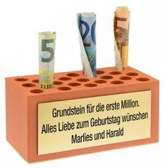 Geschenk: Grundstein für die erste Million