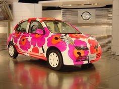 Nissan花柄マーチ