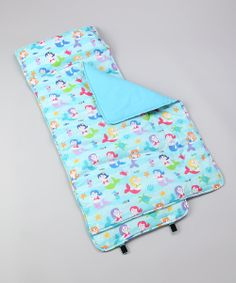 Take a look at the Olive Kids Olive Kids Blue Mermaid Kids Nap Mat on #zulily today!