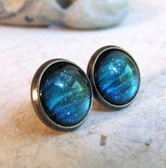 Northern Lights Post Earrings - Not sure which Northern Lights earings I like better; they're both so pretty!