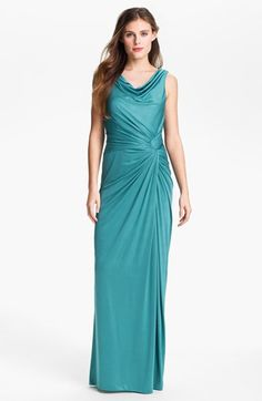 Adrianna Papell Front Twist Charmeuse Gown (Plus Size) available at #Nordstrom
